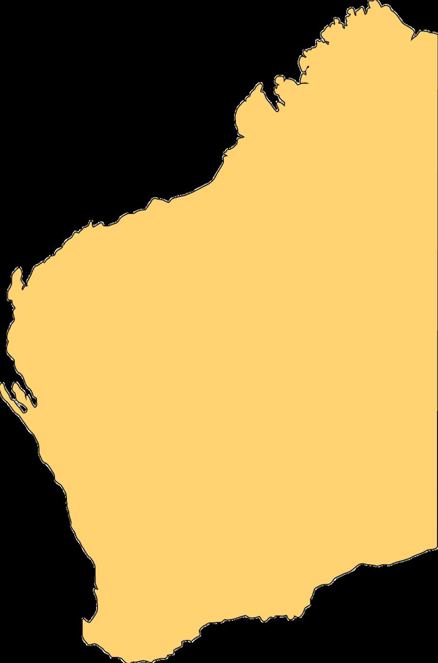 Blank Map Of Western Australia Mapsof Clipart.