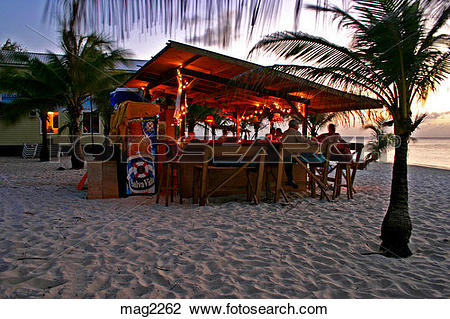 Stock Photo of People enjoying cocktails at Infinity Bay Beach Bar.