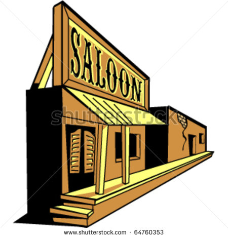 Old Western Saloon Clipart.