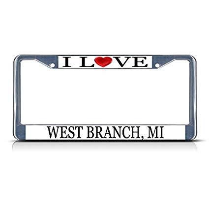 Amazon.com: I Love Heart West Branch, Mi Chrome License.