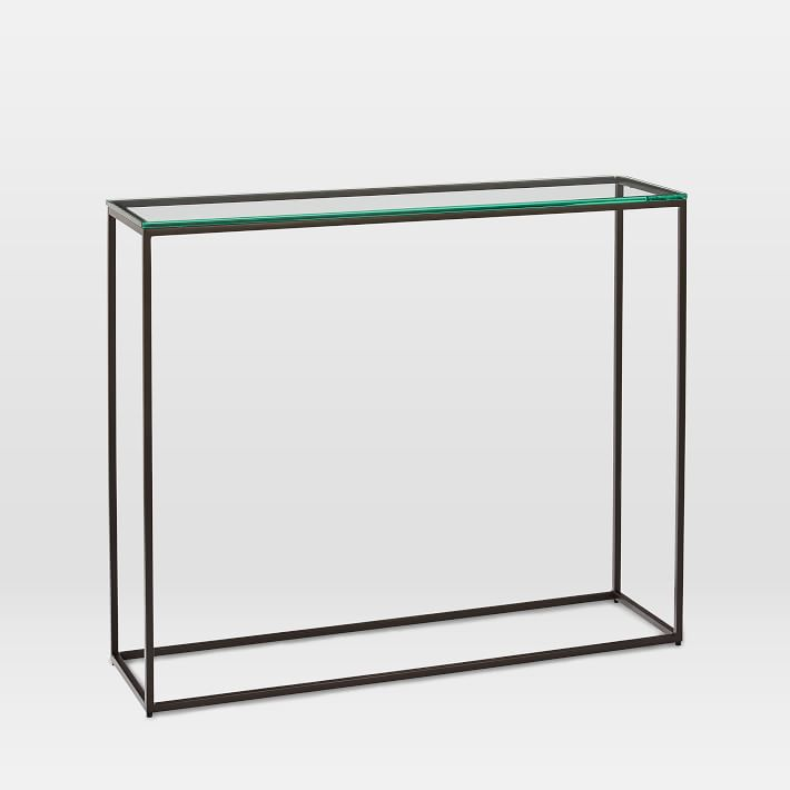 Streamline Console, Glass, Antique Bronze.