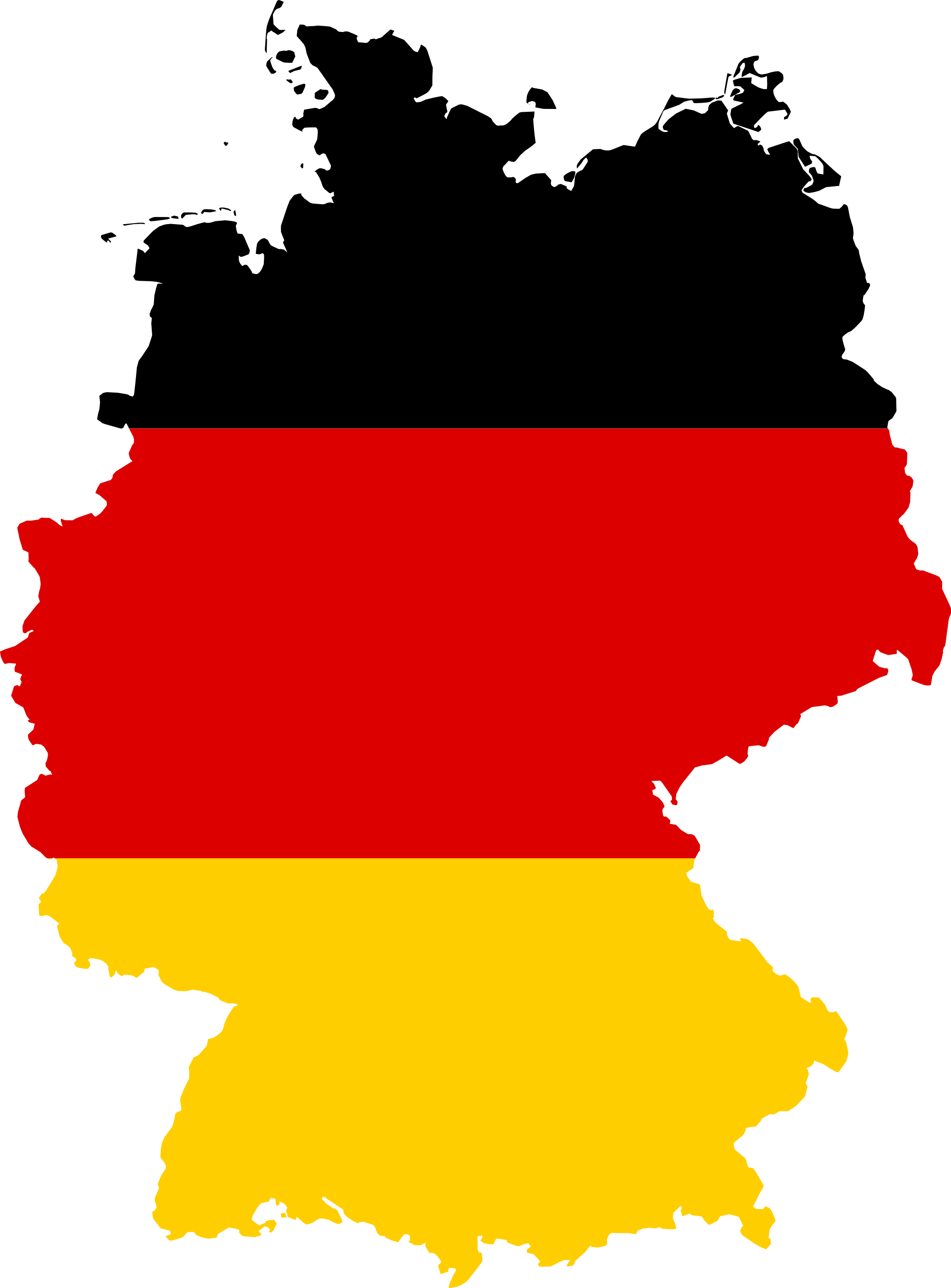 Yellow germany, clip art, west germany, world map #48874.