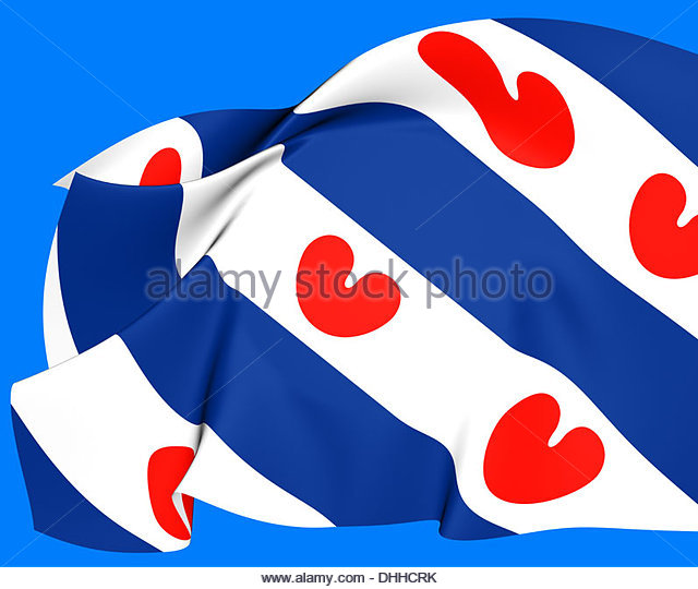 Flag West Friesland Netherlands Close Stock Photos & Flag West.