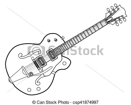 west guitar outline clipart clipground