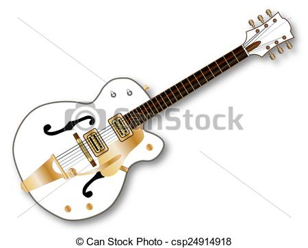 Clipart of Country Pickers Guitar.