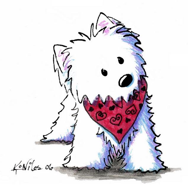 West highland terrier clip art free.