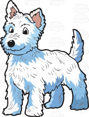 West highland white terrier clipart #8