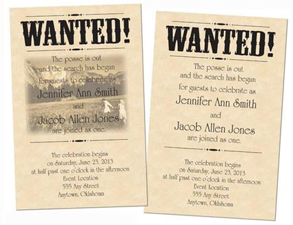 Western Wedding Invitations.