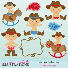Cowboy cliparts.