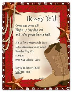 Free #Printable Western #Birthday Party #Invitation http://www.