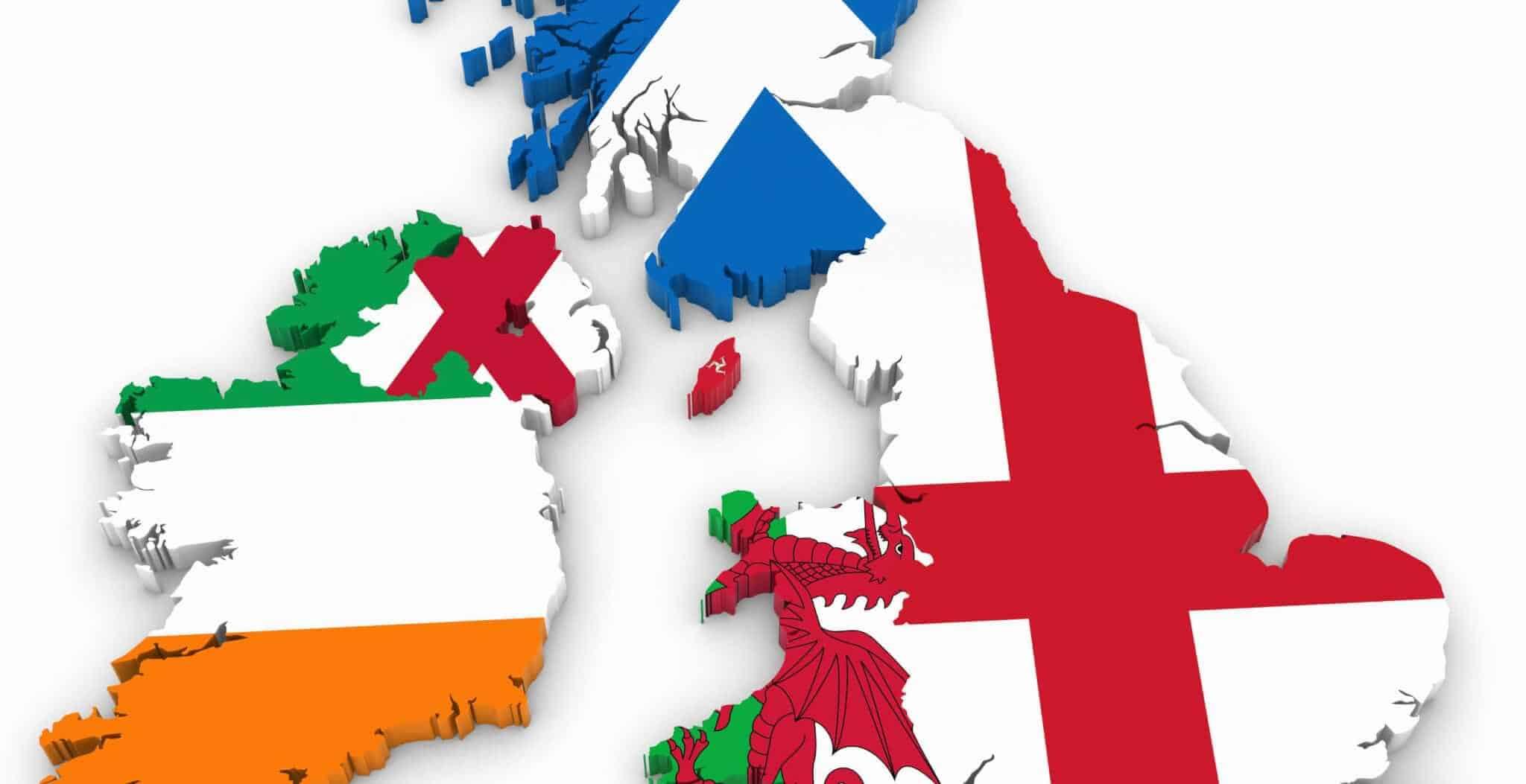 The UK, Britain, Great Britain, The British Isles, England.