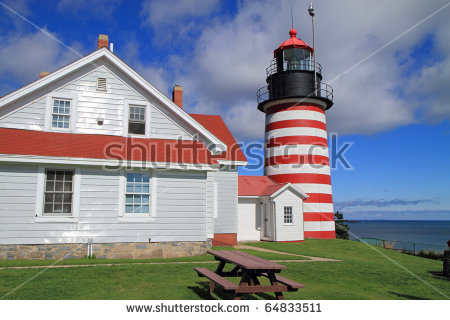 """""""west Quoddy Head Lighthouse"""" Stock Photos, Royalty."""