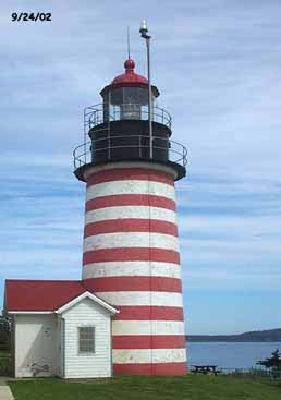 West Quoddy Lighthouse.