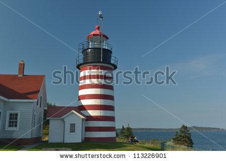 Candy Stripe Lighthouse Stock Photos, Royalty.