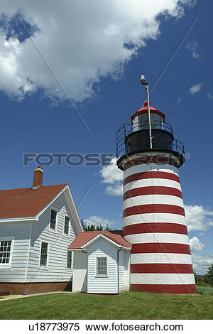 Stock Image of Lubec, ME, Maine, Bay of Fundy, Quoddy Head State.