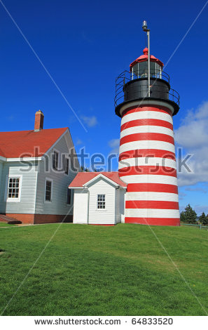 West Quoddy Lighthouse Stock Photos, Royalty.