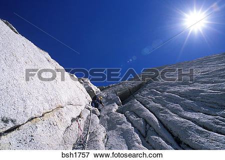 Picture of Climber on the West Ridge of Mt. Conness, Tuolumne.