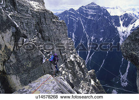 Pictures of Man climbing the West Ridge of Mount Tupper with the.