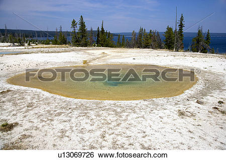 Stock Images of Percolating Spring, West Thumb Geyser Basin.
