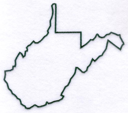 West Virginia State Shape.