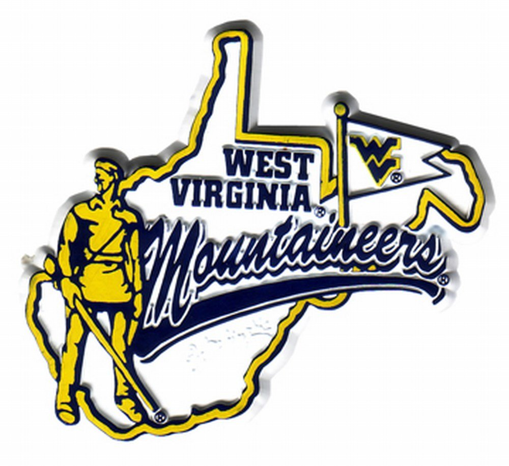 NCAA West Virginia Mountaineers 2D Mascot Map Magnet: Amazon.