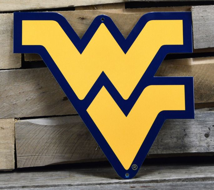 Authentic Street Signs West Virginia Mountaineers Steel Logo Sign.