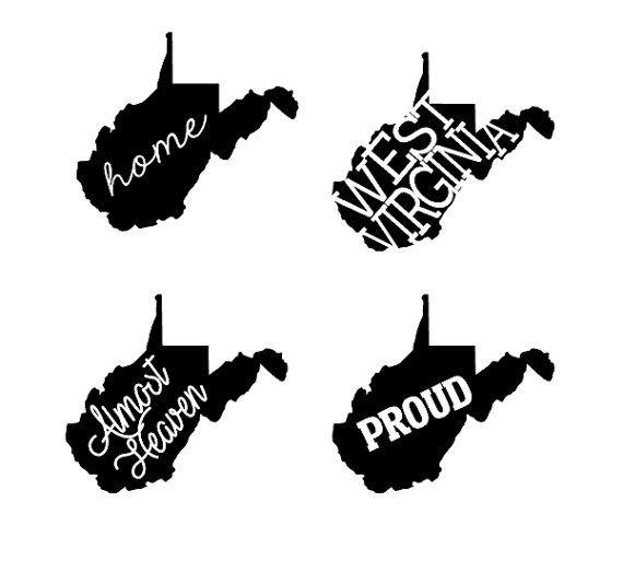 West Virginia State Decals WV Decals West by HPDesignsShop.