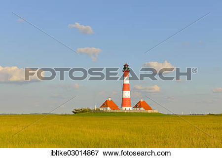 "Picture of ""Westerhever or Westerheversand Lighthouse, Westerhever."