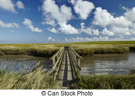 Pictures of Westerhever (Germany).