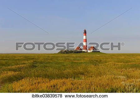 "Pictures of ""Westerheversand Lighthouse, Westerhever, Eiderstedt."