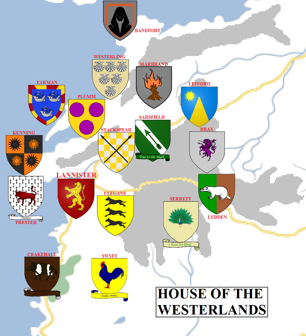 Geographic Map 9: The Westerlands.