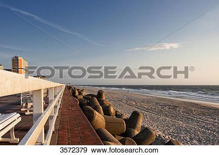 Stock Photograph of Tetrapodes at the coast at Westerland, Sylt.