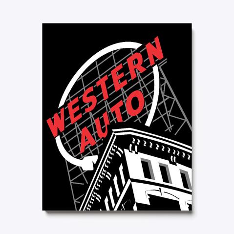 Western Auto Canvas Print.