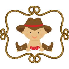Baby cowboy clip art.