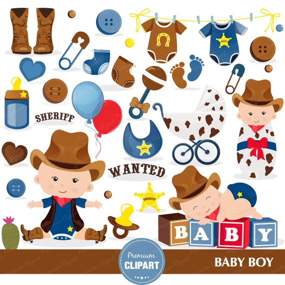 Cowboy baby shower clipart, Baby shower clipart, Wild West clipart, Wild  West Party, Western Clipart, Cowboy clipart.
