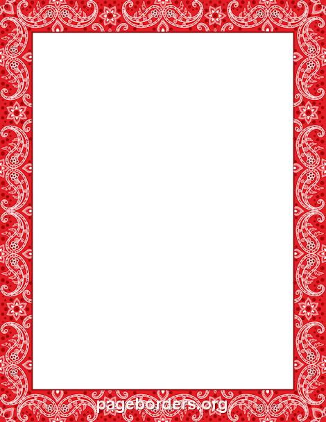 Red Bandana Border: Clip Art, Page Border, and Vector.