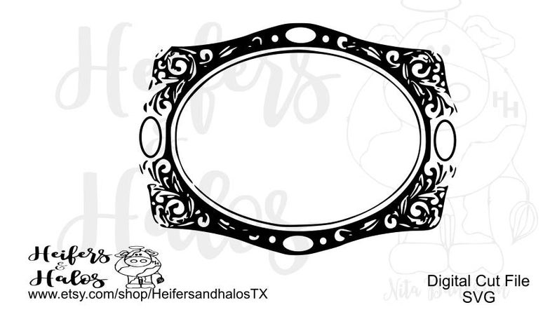 Blank belt buckle 2 svg, pdf, png, eps, dxf use with cricut and silhouette,  Create your own ranchy design with this blank buckle!.
