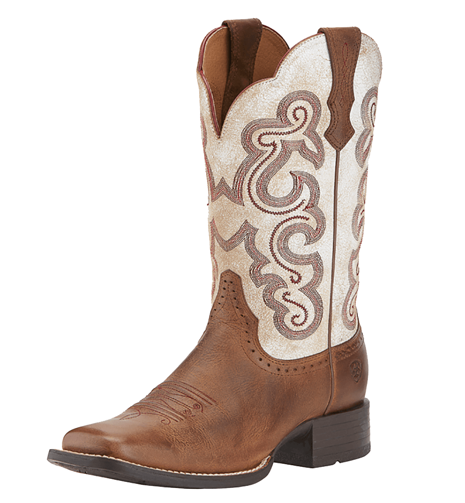 Ariat Womens Quickdraw Square Toe Cowgirl Boots.