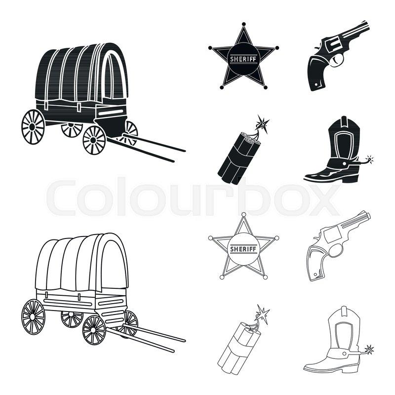 Star sheriff, Colt, dynamite, cowboy.
