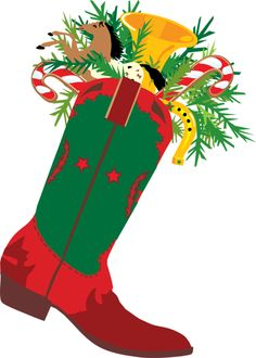 Western Christmas Clipart Free.