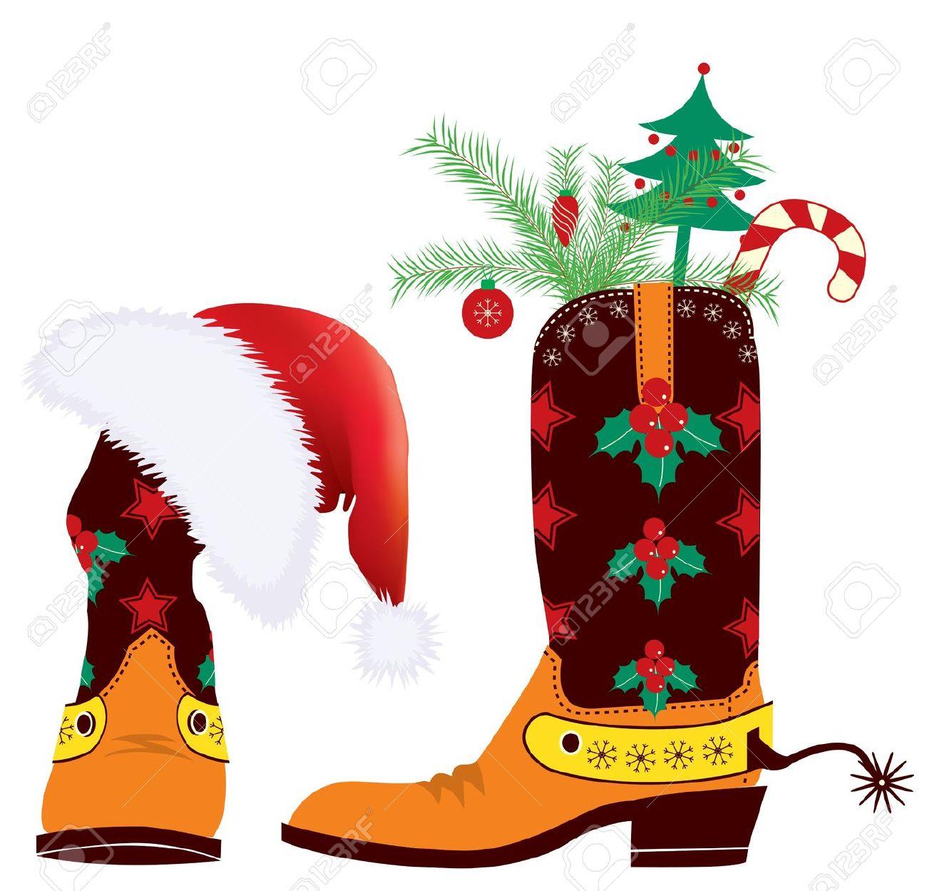 Cowboy christmas clipart.