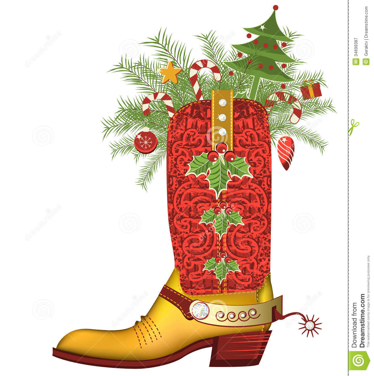 Texas Christmas Clipart.