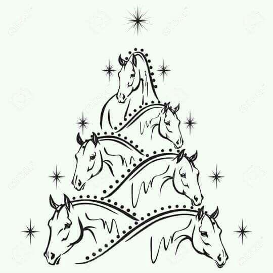 Horse Christmas tree.