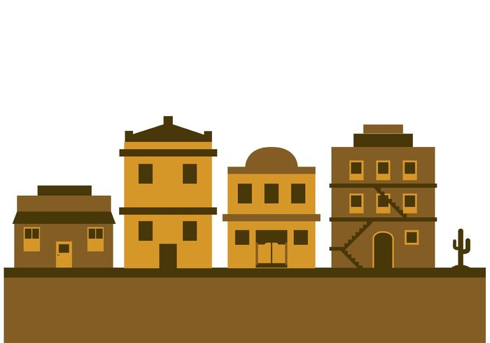 Western town clipart.