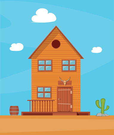 Old West Town Clip Art, Vector Images & Illustrations.