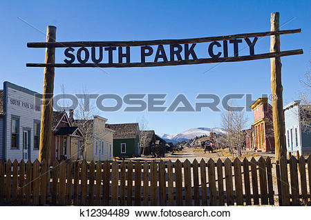 Stock Photograph of South Park City Colorado Western Town.