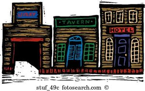 Western city Clip Art Illustrations. 470 western city clipart EPS.