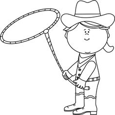 western black and white clip art.