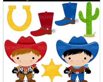 Kids cowboy clipart.