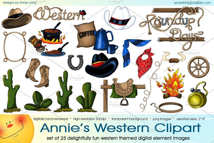 Annie\'s Western Clipart.